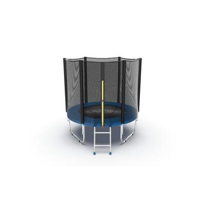Батут EVO JUMP External 6ft (Blue) с внешней сеткой и лестницей, диаметр 6ft (синий) (фото)