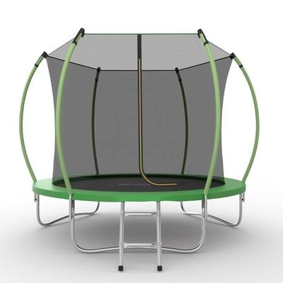 Батут EVO JUMP Internal 8ft (Green) с внутренней сеткой и лестницей, диаметр 8ft (зеленый) (фото)