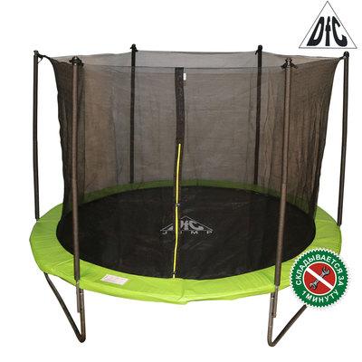 Батут DFC JUMP 12ft складной, c сеткой, цвет apple green (фото)