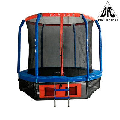Батут DFC JUMP BASKET с сеткой 8FT-JBSK-B (фото)