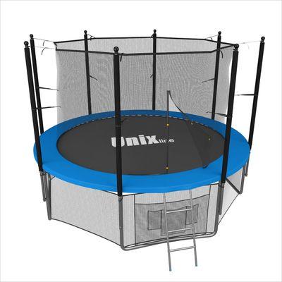 Батут с сеткой и лестницей Unix 6 ft (183м). Внутренняя сетка. BLUE. (фото)