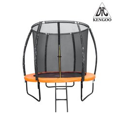 Батут DFC 8FT-TR-E-BAS KENGOO 8 футов (244 см) внутр.сетка, лестница, оранж-черн