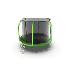 Батут EVO JUMP Cosmo 10ft (Green) с внутренней сеткой и лестницей