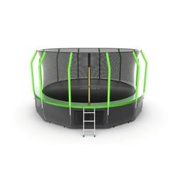 EVO JUMP Cosmo 16ft (Green) + Lower net. Батут с внутренней сеткой и лестницей, диаметр 16ft (зеленый) + нижняя сеть