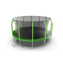 EVO JUMP Cosmo 16ft (Green) Батут с внутренней сеткой и лестницей, диаметр 16ft (зеленый)