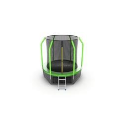 EVO JUMP Cosmo 6ft (Green) + Lower net. Батут с внутренней сеткой и лестницей, диаметр 6ft (зеленый) + нижняя сеть