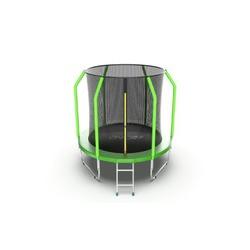 Батут EVO Jump Cosmo 6ft (Green) с внутренней сеткой и лестницей
