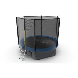 EVO JUMP External 10ft (Blue) + Lower net. Батут с внешней сеткой и лестницей, диаметр 10ft (синий) + нижняя сеть