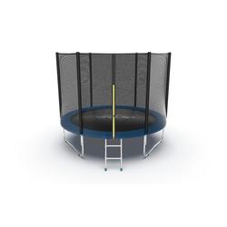 EVO JUMP External 10ft (Blue) Батут с внешней сеткой и лестницей, диаметр 10ft (синий)