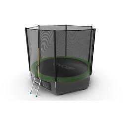 Батут EVO JUMP External 10ft (Green) + Lower net с внешней сеткой и лестницей