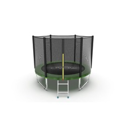 Батут EVO Jump External 10ft (Green) с защитной сеткой (лестница в комплекте)