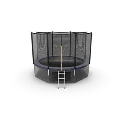 EVO JUMP External 12ft (Blue) + Lower net. Батут с внешней сеткой и лестницей, диаметр 12ft (синий) + нижняя сеть