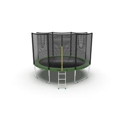 EVO JUMP External 12ft (Green) Батут с внешней сеткой и лестницей, диаметр 12ft (зеленый)