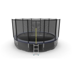 EVO JUMP External 16ft (Blue) + Lower net. Батут с внешней сеткой и лестницей, диаметр 16ft (синий) + нижняя сеть