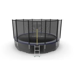 Батут EVO JUMP External 16ft (Blue) + Lower net с внешней и нижней сеткой и лестницей