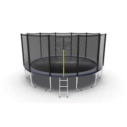 EVO JUMP External 16ft (Blue) Батут с внешней сеткой и лестницей, диаметр 16ft (синий)
