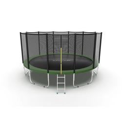 Батут EVO JUMP External 16ft (Green) с внешней сеткой и лестницей