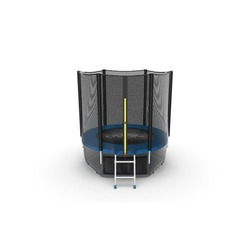 EVO JUMP External 6ft (Blue) + Lower net. Батут с внешней сеткой и лестницей, диаметр 6ft (синий) + нижняя сеть