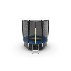 Батут EVO JUMP External 6ft (Blue) + Lower net с внешней и нижней сеткой и лестницей