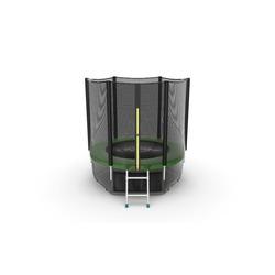 Батут EVO JUMP External 6ft (Green) + Lower net с внешней и нижней сеткой и лестницей
