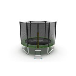 Батут EVO Jump External 6ft (Green) с внешней сеткой и лестницей, диаметр 6ft (зеленый)