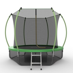 Батут EVO JUMP Internal 10ft (Green) + Lower net с внутренней и нижней сеткой и лестницей