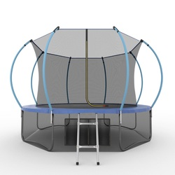 EVO JUMP Internal 12ft (Blue) + Lower net. Батут с внутренней сеткой и лестницей, диаметр 12ft (синий) + нижняя сеть