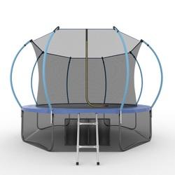 Батут EVO JUMP Internal 12ft (Blue) + Lower net с внутренней и нижней сеткой и лестницей