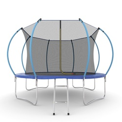 EVO JUMP Internal 12ft (Blue) Батут с внутренней сеткой и лестницей, диаметр 12ft (синий)