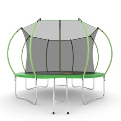 EVO JUMP Internal 12ft (Green) Батут с внутренней сеткой и лестницей, диаметр 12ft (зеленый)