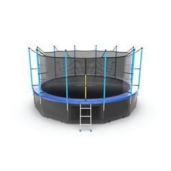 EVO JUMP Internal 16ft (Blue) + Lower net. Батут с внутренней сеткой и лестницей, диаметр 16ft (синий) + нижняя сеть