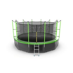 Батут EVO JUMP Internal 16ft (Green) + Lower net с внутренней и нижней сеткой и лестницей