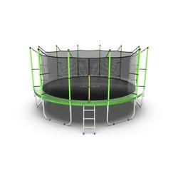 Батут EVO JUMP Internal 16ft (Green) с внутренней сеткой и лестницей