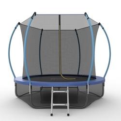 Батут EVO JUMP Internal 8ft (Blue) + Lower net с внутренней и нижней сеткой и лестницей