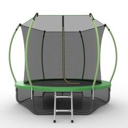 Батут EVO JUMP Internal 8ft (Green) + Lower net с внутренней и нижней сеткой и лестницей