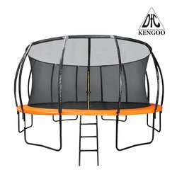Батут DFC 18FT-TR-E-BAS KENGOO 18 футов (549 см) внутр.сетка, лестница, оранж-черн (4 кор), НОВИНКА