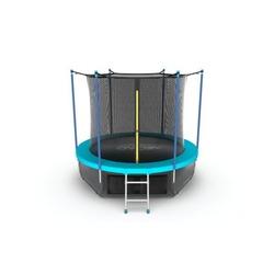 Батут EVO JUMP Internal 8ft (Wave). с внутренней сеткой и лестницей, диаметр 8ft (морская волна) + нижняя сеть