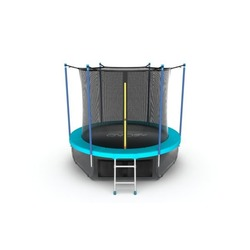 EVO JUMP Internal 10ft (Wave). Батут с внутренней сеткой и лестницей, диаметр 10ft (морская волна) + нижняя сеть