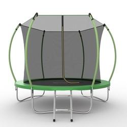 Батут EVO JUMP Internal 8ft (Green) с внутренней сеткой и лестницей, диаметр 8ft (зеленый)