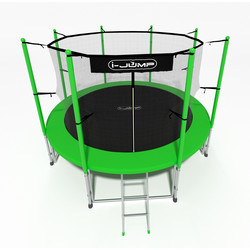 Батут с сеткой и лестницей i-JUMP 16ft (4,88м) green