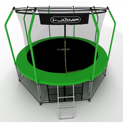 Батут с сеткой и лестницей i-JUMP Elegant 16ft (4,88м) green