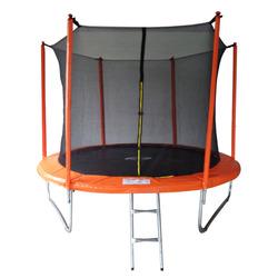 Батут 10FT 3,05м SportElite с защитной сеткой внутрь и лестницей, оранжевый, MZ-10FT-O