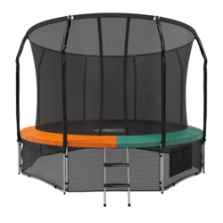Батут Eclipse с защитной сеткой Space Green/Orange 14FT
