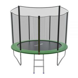 Батут складной EVO JUMP External 8ft (Green) с внешней сеткой и лестницей
