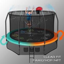 Батут Clear Fit FamilyHop 14Ft