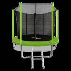 Батут ARLAND 8FT с внутренней страховочной сеткой и лестницей (Light green)