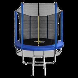 Батут ARLAND 8FT с внутренней страховочной сеткой и лестницей синий