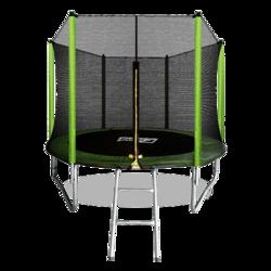 Батут ARLAND 8FT с внешней страховочной сеткой и лестницей (Light green)