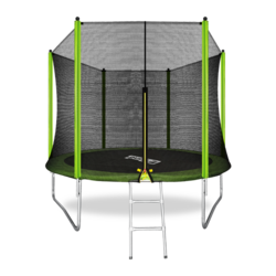 Батут ARLAND 10FT с внешней страховочной сеткой и лестницей (Light green)