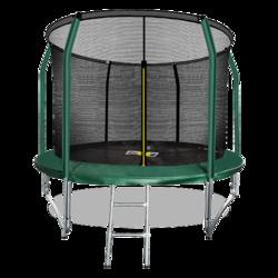 Батут ARLAND премиум 10FT с внутренней страховочной сеткой и лестницей (Dark green)